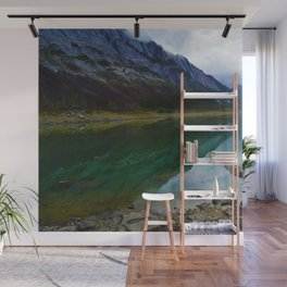 Reflections in Medicine Lake in Jasper National Park, Canada Wall Mural
