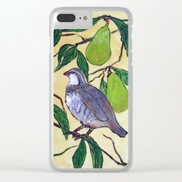 Partridge in a Pear Tree Clear iPhone Case