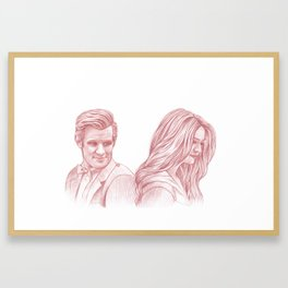 Doctor Who and Amy Pond Framed Art Print