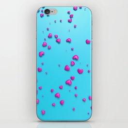 VALENTINE HEARTS - Pink Plastic Hearts iPhone Skin
