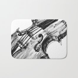 Black Violin Bath Mat