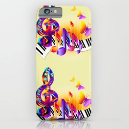 Music notes colorful design iPhone Case