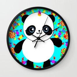 Pandacorn Candy Wall Clock
