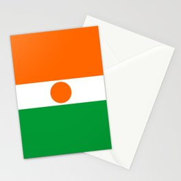 niger country flag Stationery Cards