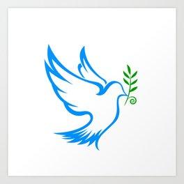 dove symbol draw Art Print