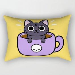Happy Coffee Cat Rectangular Pillow