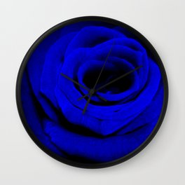 Expansion Blue rose flower Wall Clock