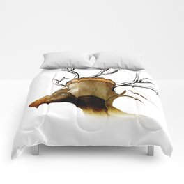 Lady and her Stag. Comforters