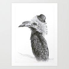 Fancy Hornbill Art Print