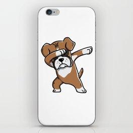 Funny Boxer Dog Dabbing iPhone Skin