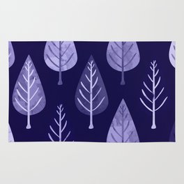 Watercolor Forest Pattern #8 Rug