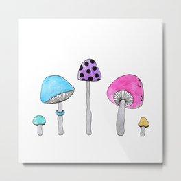 Colorful Shrooms Metal Print
