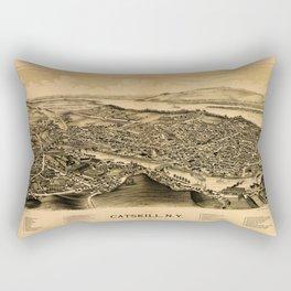 Map Of Catskill 1889 Rectangular Pillow