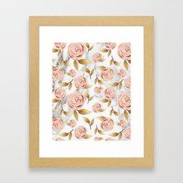 Blushing blooms Framed Art Print
