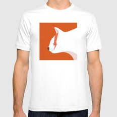 David Meowie MEDIUM White Mens Fitted Tee