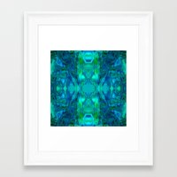 stained glass Framed Art Prints featuring Stained-glass.  by Assiyam
