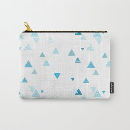 Triangles patterned random small blues Carry-All Pouch