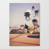 college Canvas Prints featuring Fear and Loathing on Tatooine by Anton Marrast