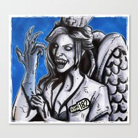 blink 182 Canvas Prints featuring Don't Blink-182 by ZACKSPLOITATION! Art by Zack Morrissette