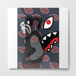 Bape Shark akatsuki Metal Print