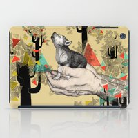 wolves iPad Cases featuring Found You There  by Sandra Dieckmann
