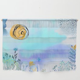 Blue Garden II Wall Hanging
