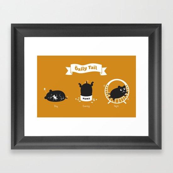 The Daily Tail Hamster Framed Art Print
