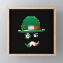 Irish Flag Face. Framed Mini Art Print