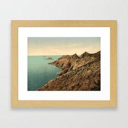 """""""Pointe du Raz Douarnenez France"""" Framed Art Print"""