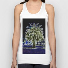 Magic night with Palm tree Unisex Tank Top