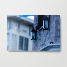 Brick wall and lights Metal Print