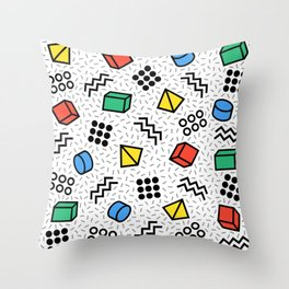 Abstract Memphis Style Pattern Throw Pillow