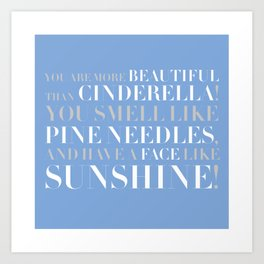 Bridesmaids Wedding Pine Needles Sunshine Art Print