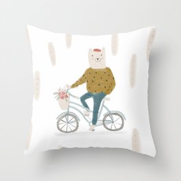 French cat Throw Pillow