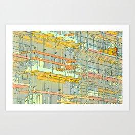 Construction site scaffolding in Berlin Art Print