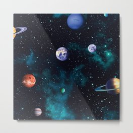 Universe pattern Metal Print