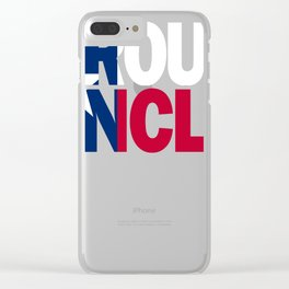 Uncle Design and Texas Design Uncle Design Texas Flag Clear iPhone Case