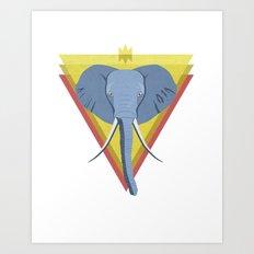 Regal Elephant Art Print