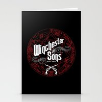 winchester Stationery Cards featuring Winchester & Sons by Manny Peters Art & Design