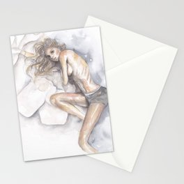 I'd Rather Stay In Bed Stationery Cards