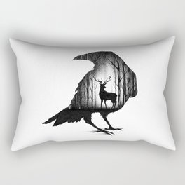 THE RAVEN AND THE DEER Rectangular Pillow