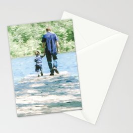 Father and Son 3 Stationery Cards