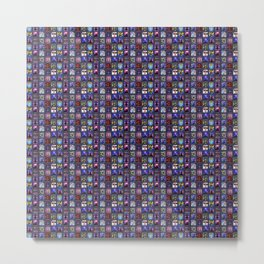 Art Jewels Artworks Mosaic Metal Print