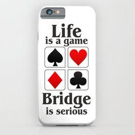 Bridge player gift, Bridge game. Contract Bride, Duplicate Bridge, Bridge lover, Bridge partner iPhone Case