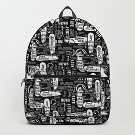 Gamer Lingo-Black and White Backpack