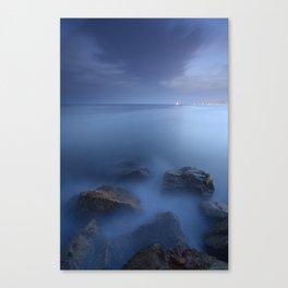 """Blue sea"". Blue hour. Canvas Print"