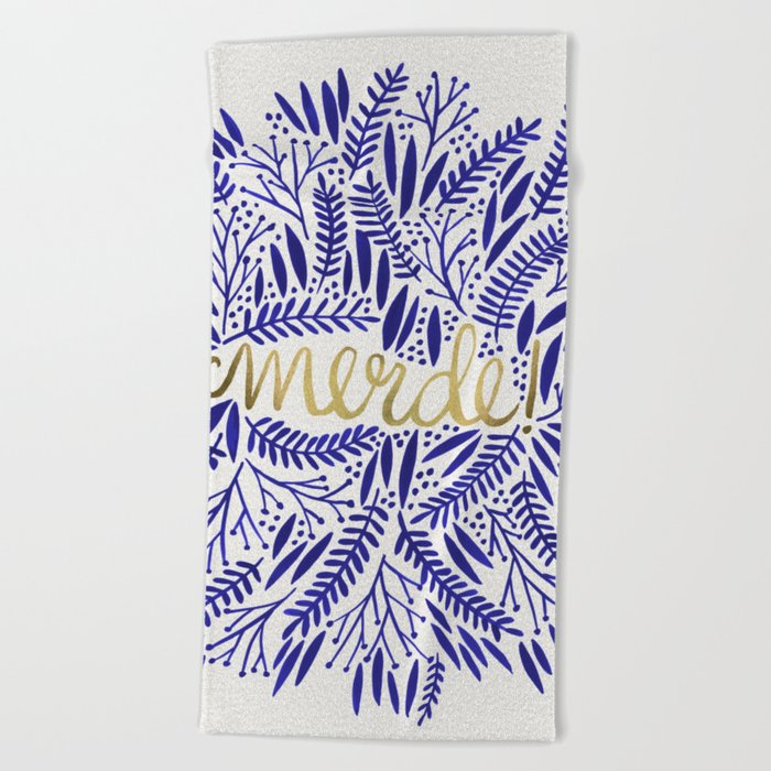 Pardon My French Beach Towel By Catcoq