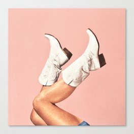 These Boots - Pink Canvas Print