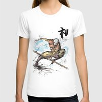 avatar the last airbender T-shirts featuring Aang from Avatar the Last Airbender sumi/watercolor by mycks