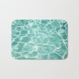 Water Abstract Photography, Teal Ocean, Turquoise Sea, Water Ripple Seascape Bath Mat